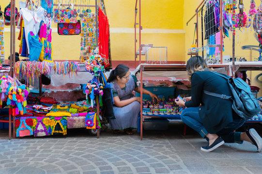 Indigenous craft fair, Mexico