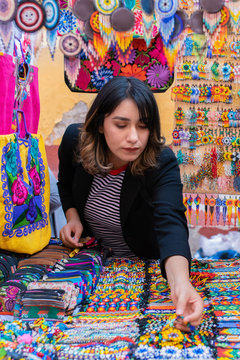 woman shopping at a mexican market