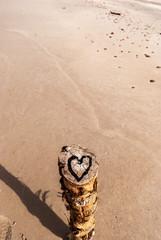 Plaża z sercem