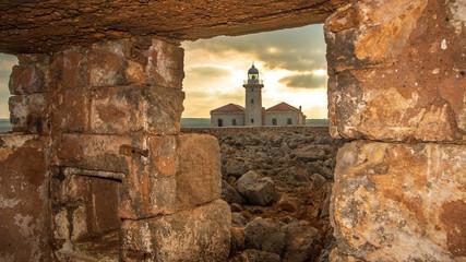 Faro de punta Nati en menorca ciutadella
