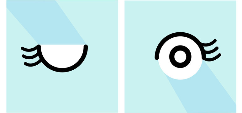 Human eye symbol icon medical concept light blue background