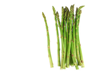 Wall Mural - fresh asparagus isolated on white background