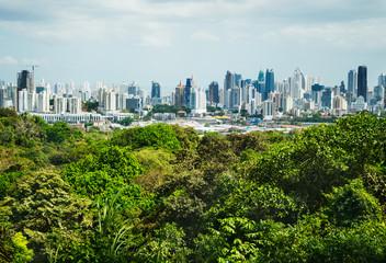 View of Panama City from Metropolitan Natural Park, Panama City, Panama, Central America