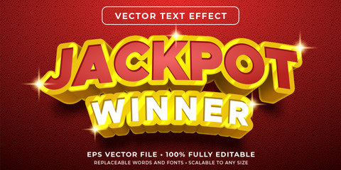 Editable text effect - jackpot prize style