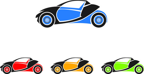 Simple small car logo vector art illustration preferably for automobile