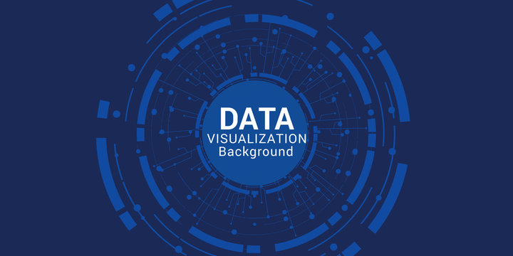 Data complexity representation. Big data concept visualization. Analytics abstract concept. Graphic background