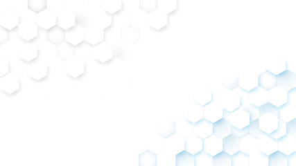 Wall Mural - Abstract technology digital hi tech hexagons concept background. Space for your text