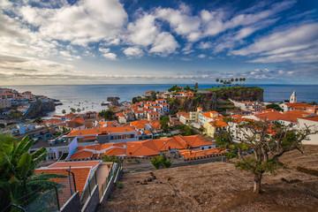 Zelfklevend Fotobehang Diepbruine Pocztówka z Madery