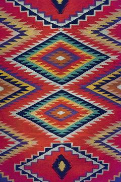Aztec, Navajo geometric seamless pattern. Native American Southwest print.