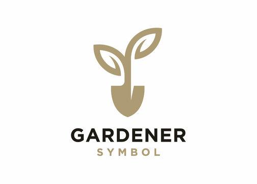 Gardener logo design vector, Lawn care, farmer, lawn service logotype, icon vector