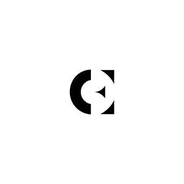 EC CE Letter Logo Design Template