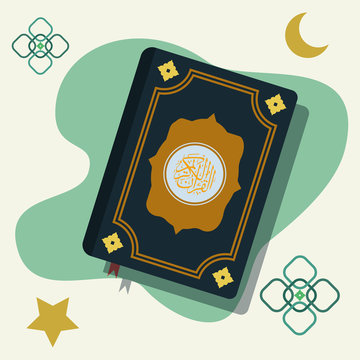 Alquran design vector illustration. Recite concept vector