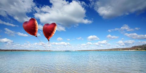 Wall Mural - Luftballon fliegt in den Himmel