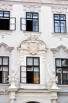 Fassadendetail in Krems Stein an der Donau