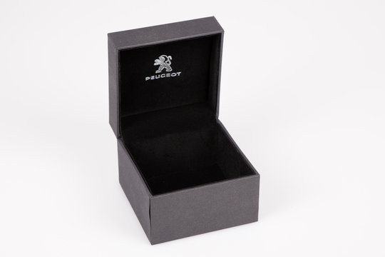 Peugeot car brand from France black box for jewelry watch and gifts with the lion sign symbol french brand automobiles