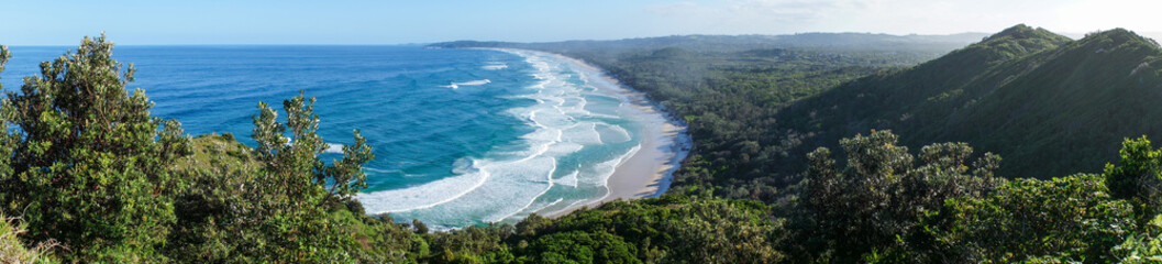 Panoramic view of Byron bay in australia