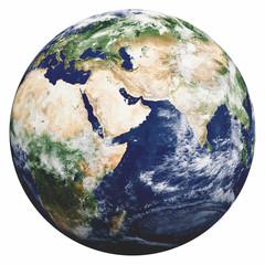 Fototapete - Planet Earth on white