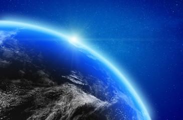 Fototapete - Planet Earth stratosphere