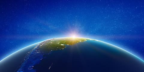 Fototapete - South America astro view