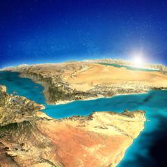 Fototapete - East Africa and Saudi Arabia background