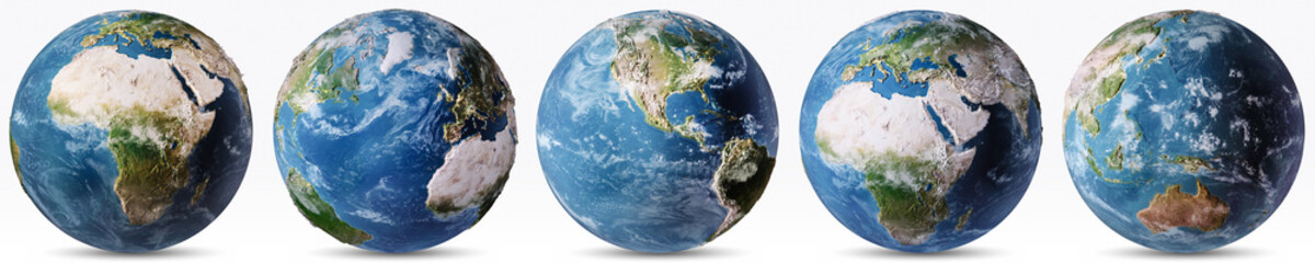 Wall Mural - Planet Earth weather map set