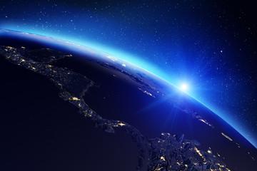 Fototapete - Planet Earth map. 3d rendering
