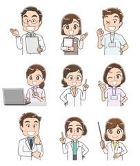 医療従事者 病院 人物 医者 事務 看護師 セット