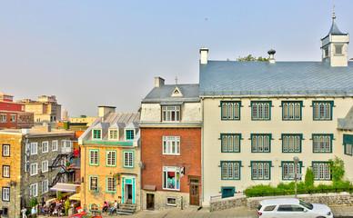 Fotomurales - Quebec City, Historical center at dusk