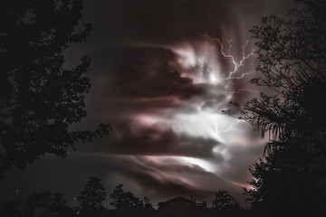 storm and lightnings