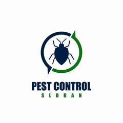 Pest control logo design vector illustration