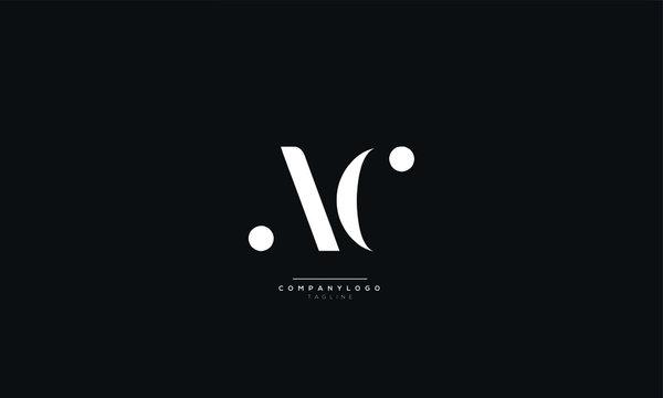 AC CA A C Letter Logo Design Icon Vector Symbol