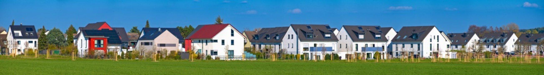 Ein Neubaugebiet im Frankfurter Stadtteil Harheim