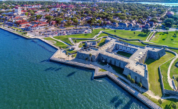 Aerial of St Augustine, Florida