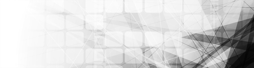 Abstract concept monochrome geometric background. Vector banner design