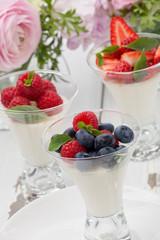 Panna Cotta Desert With Berries