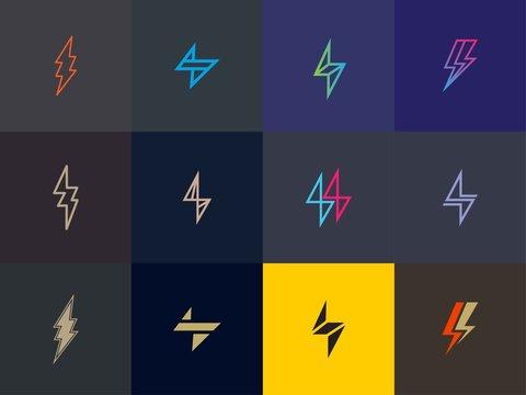 set of Premium Flash Logo