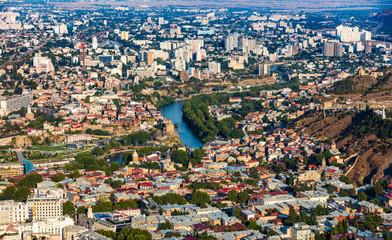 Fotomurales - old downtown Tbilisi cityscape skyline kura river Georgia Europe landmark