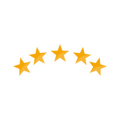 5 star icon vector to best vote