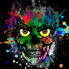 abstract background with skull