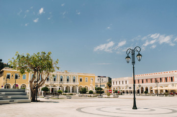 Zakynthos, the Main square in the old city of Zakynthos, Greece.island of zakynthos Fotomurales