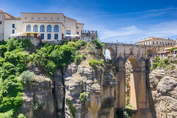 Fototapete - Historic Puente Nuevo bridge over the canyon in Ronda, Spain