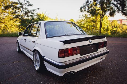 Original BMW M3 e30 outdors rear view.