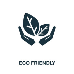Eco Friendly icon from organic farming collection. Simple line Eco Friendly icon for templates, web design and infographics