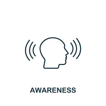 Awareness icon from personality collection. Simple line Awareness icon for templates, web design and infographics