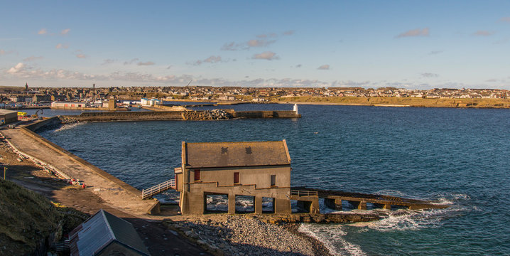 Old disused Lifeboat Station Wick Harbour