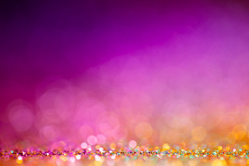 Decoration bokeh lights background, abstract shiny backdrop with circles,modern design overlay with...