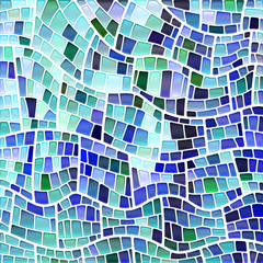 Keuken foto achterwand Psychedelic abstract vector stained-glass mosaic background