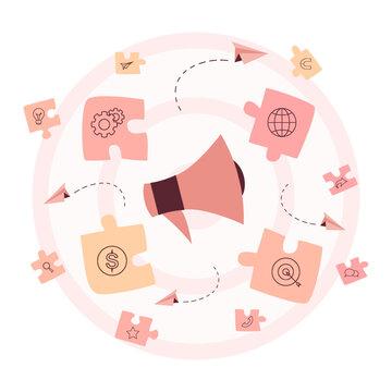 Referral program concept