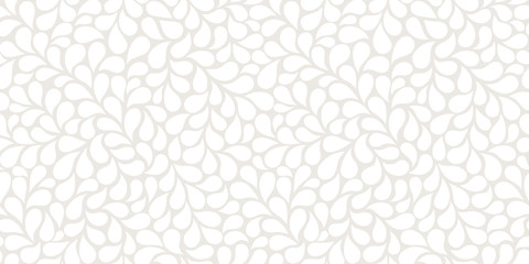 Vector seamless gray pattern with white drops. Monochrome abstract floral background. Stylish monochrome texture.