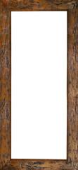 marco de madera marron rustico en vertical